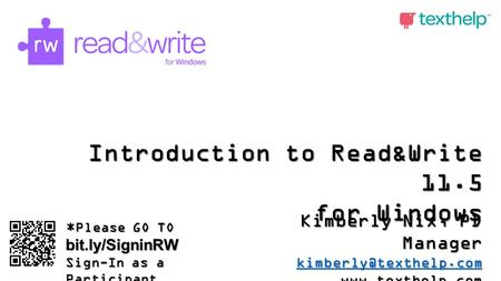 Introduction to Read&Write 11.5 for Windows