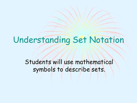 Understanding Set Notation