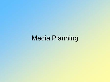 Media Planning. Media planning is the process of determining how to use time and space to achieve marketing objectives.