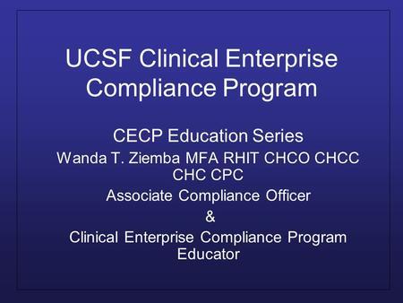 Ppt download - Associate compliance officer ...