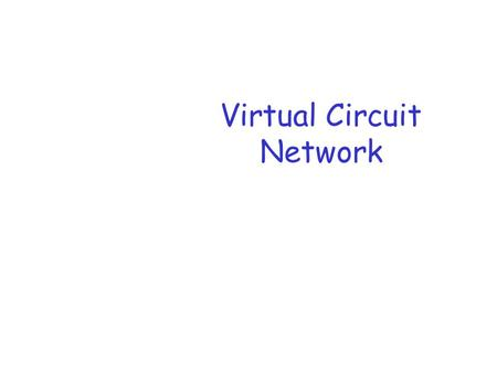 Virtual Circuit Network. Network Layer 2 Network layer r transport segment from sending to receiving host r network layer protocols in every host, router.