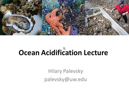Ocean Acidification Lecture
