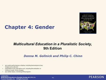 Chapter 4: Gender Multicultural Education in a Pluralistic Society,