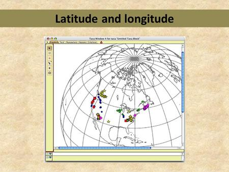 Latitude and longitude. What is latitude? takes notes from PowerPoint slides about latitude Why is latitude important?