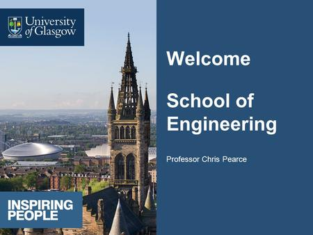 Welcome School of Engineering Professor Chris Pearce.