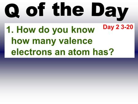 How do you know how many valence electrons an atom has?
