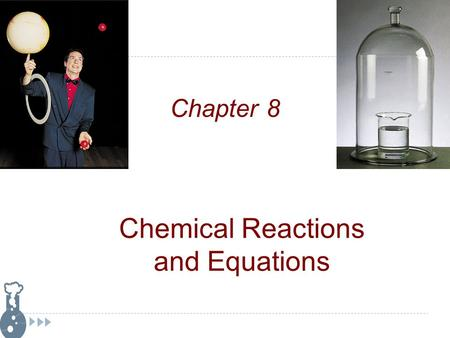 Chemical Reactions and Equations Chapter 8. What does a chemical formula represent?  The elements contained in a chemical substance  Indicates the number.