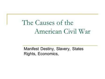 the reason for the civil rights The events that caused the american civil war causes of the civil war summary states' rights the missouri compromise the dred scott decision the abolitionist movement abolitionist john brown john brown's raid on harpers ferry slavery in america harriet tubman underground railroad harriet beecher stowe uncle tom's.