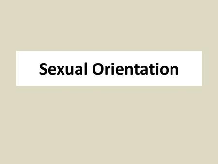 Sexual Orientation. Sodomy – A History First considered under Church Law, becomes part of English criminal law in 1533 as capital offense Only includes.