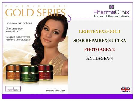 LIGHTENEX® GOLD SCAR REPAIREX® ULTRA PHOTO AGEX® ANTI AGEX®