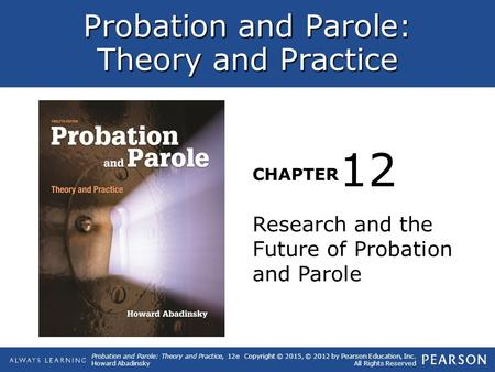 12 Research and the Future of Probation and Parole.