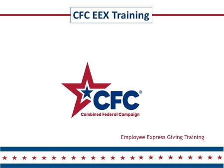 CFC EEX Training Employee Express Giving Training.