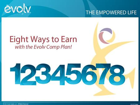 EVOLV RANK NAMES Retail Commission You can have an unlimited number of Customers PAID WEEKLY YOU ALL RANKS ALL RANKS TOTAL SALESComm % %PV $1 - $1000.