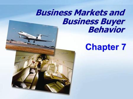 Objectives Be able to define the business market and explain how business markets differ from consumer markets. Know the major factors that influence business.
