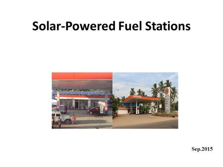 Solar-Powered Fuel Stations