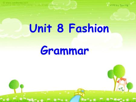 Unit 8 Fashion Grammar. What are they doing? They are playing basketball. They are playing football.
