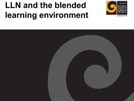 LLN and the blended learning environment. Polleverywhere.com.
