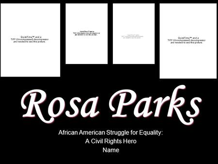African American Struggle for Equality: A Civil Rights Hero Name