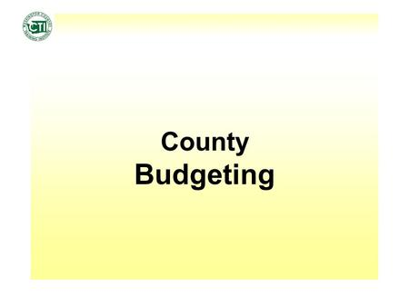 County Budgeting. December 9, 2010Budget2 Finance a. The science of the management of money and other assets. b. The disposition of public revenues by.