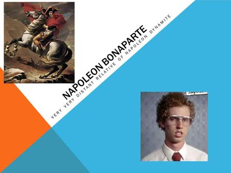 NAPOLEON BONAPARTE VERY VERY DISTANT RELATIVE OF NAPOLEON DYNAMITE.