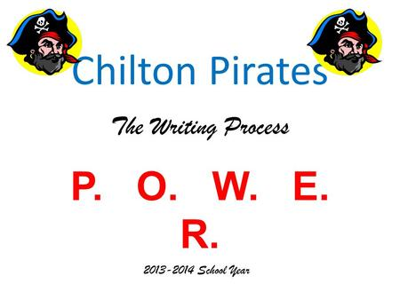 Chilton Pirates The Writing Process P. O. W. E. R.