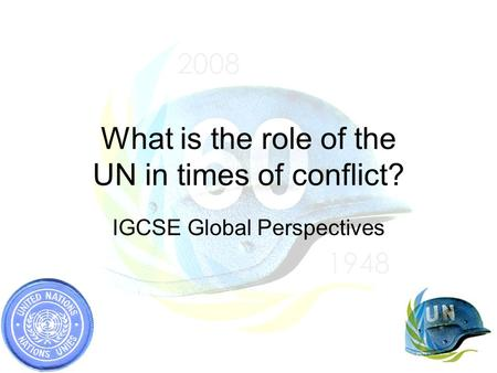 What is the role of the UN in times of conflict?