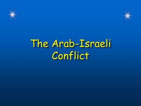 arab israeli conflict 2