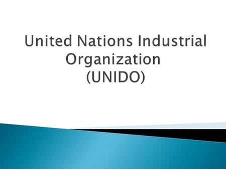  On 17 November, 1966, the United Nations General Assembly passes resolution 2152 (XXI) establishing the United Nations Industrial Organization (UNIDO)
