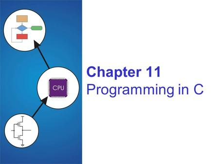 Chapter 11 Programming in C. 11-2 Compilation vs. Interpretation Different ways of translating high-level language Compilation translates code into machine.