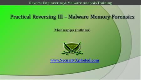 Www.SecurityXploded.com. Disclaimer The Content, Demonstration, Source Code and Programs presented here is AS IS without any warranty or conditions.