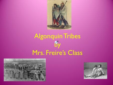 Algonquin Tribes by Mrs. Freire's Class. Where are the Algonquin Tribes located?  They are in Canada and part of Quebec.  They are allies to the Iroquois.