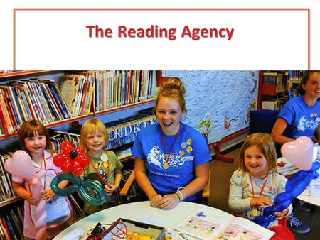The Reading Agency. Young people's research Links between reading for pleasure and literacy 1 in 4 struggling with mental health Disproportionally high.
