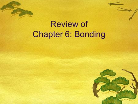a review of chapters 7 8