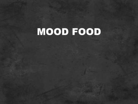 MOOD FOOD. PROMOTIONAL WEBSITE Front end of a cross-module project between Advanced Rich Internet Applications and Advanced Client Side Scripting. Promotional.