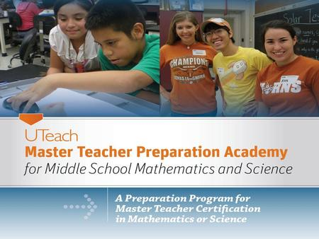 UT Austin Structure Masters Degrees and Master Teacher Certification.