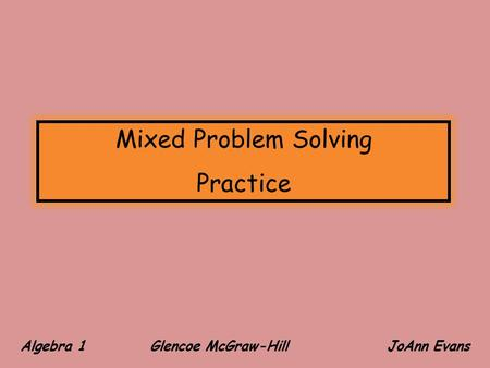Problem solving test consulting sample