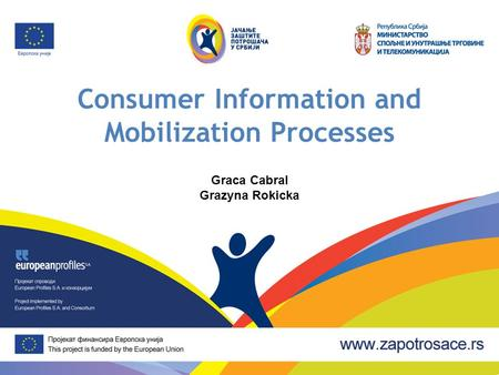 Consumer Information and Mobilization Processes Graca Cabral Grazyna Rokicka.