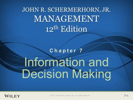 john r schermerhorn decisions decisions Managers will be able to think critically and make sound decisions using this text because the concepts are backed by many applications, exercises, and cases search images.