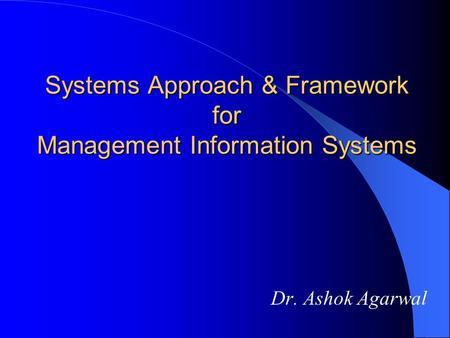 chapter1 decision support systems and business Decision support and business intelligence systems, eighth edition decision making and management management is a process by which organizational goals are achieved through the use of resources (people, money, energy, materials, space, time.