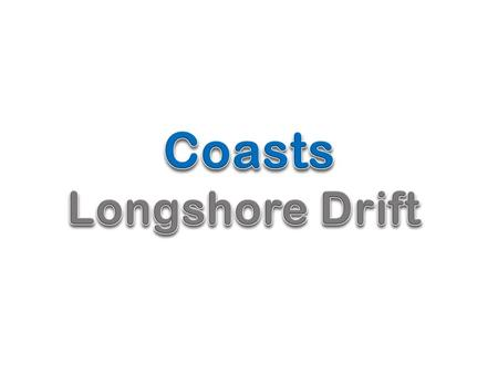 Lesson Objectives To recognise the impact of longshore drift on the coastline.
