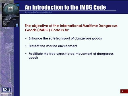 An Introduction to the IMDG Code