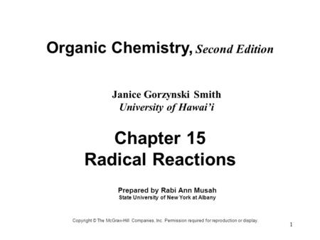 Chapter 15 Radical Reactions