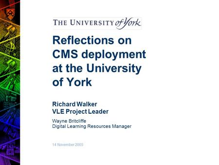 Learning reflections project management