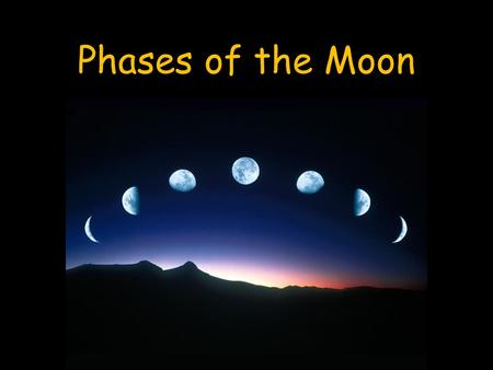 Phases of the Moon. The moon revolves around the Earth and rotates on its axis approximately every 29.5 days.