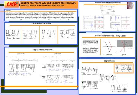 Bending the wrong way and imaging the right way, Ilana Erez and Luc T. Ikelle (Texas A&M University) ABSTRACT An analysis of scattering diagrams (i.e.,