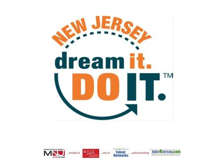 Dream It. Do It. A Partnership between NJBIA and MNJ Why Do It? What Is It? Next Steps?