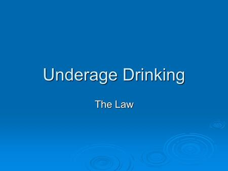 Underage Drinking The Law.  Your driving privilege will be suspended if you are convicted of: Lying about your age to obtain alcohol. Lying about your.