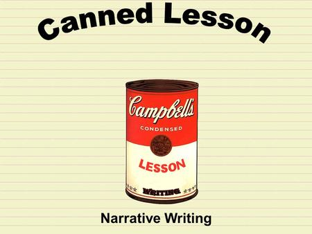 Narrative Writing. Step 1: Read the prompt carefully before you begin. Writing Situation: Your teacher punishes the whole class because one student misbehaved.
