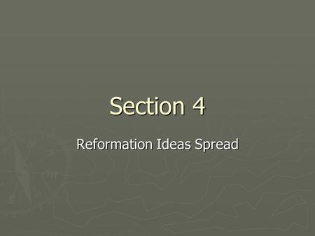 Section 4 Reformation Ideas Spread. Thomas Muentzer, a founder of the Anabaptist movement (1489-1525)