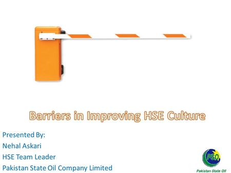 Barriers in Improving HSE Culture
